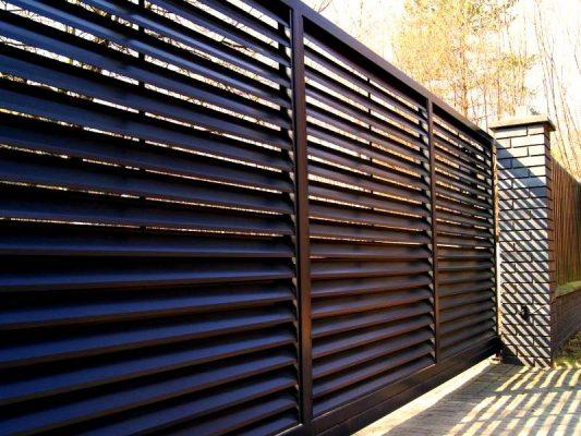 Забор жалюзи для вашего комфорта