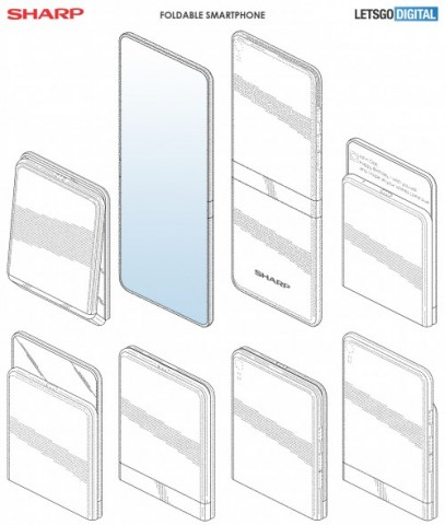 Sharp показала необычный вариант складного смартфона