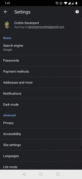 Тёмная тема Chrome: теперь и в мобильной версии
