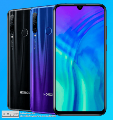 В Сети показали Honor 20 Lite