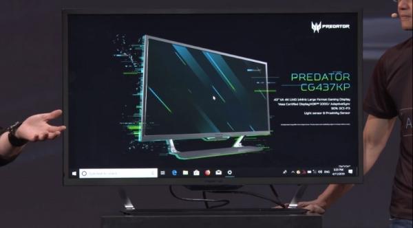 Acer Predator CG437KP: игровой 43-дюймовый 4K-монитор с частотой обновления 144 Гц и ценником в €1500