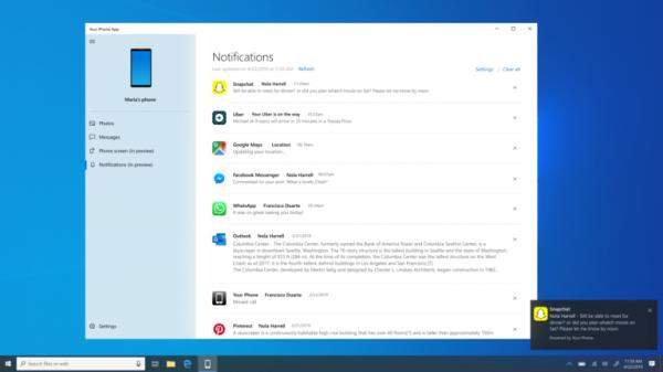 Windows 10 позволит отображать на ПК уведомления с Android-смартфонов