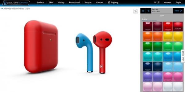 AirPods 2 компании ColorWare: почти вдвое дороже оригинала