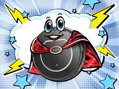 Придумай своего супергероя и выиграй робот-пылесос iLife