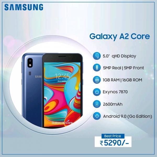 Samsung Galaxy A2 Core: конкурент Redmi Go с восьмиядерным процессором за $76