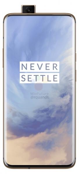 OnePlus 7 Pro в цвете Миндаль на качественных рендерах