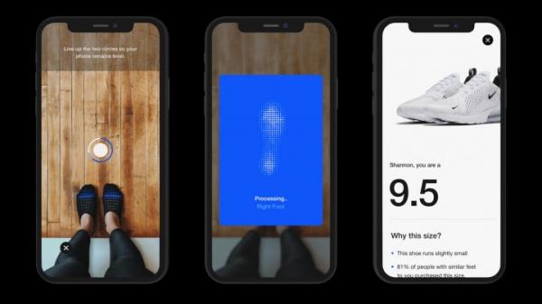 Nike разработал приложение для определения размера обуви