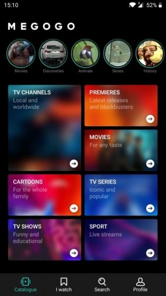В мобильном приложении MEGOGO для Android и iOS появились Stories