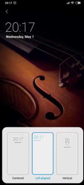 MIUI 10 Developer ROM 9.5.1 для Xiaomi Mi 9: настройка часов на экране блокировки и уведомления с Face Unlock