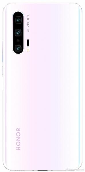Бело-розовый Honor 20 Pro замечен на рендере