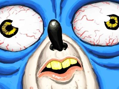 Джим Керри предстал в образе злодея из фильма про Соника. Он оказался неканонично худым