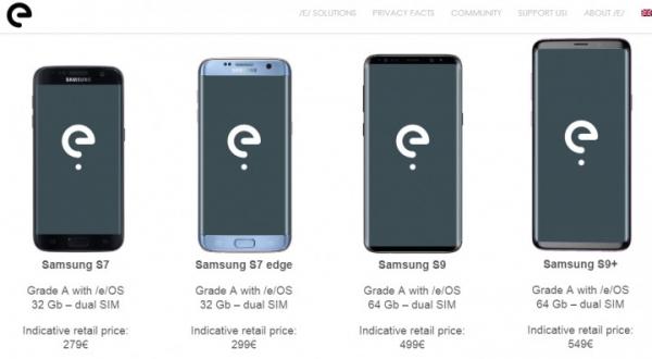 Восстановленные смартфоны Samsung будут продаваться с ОС /e/