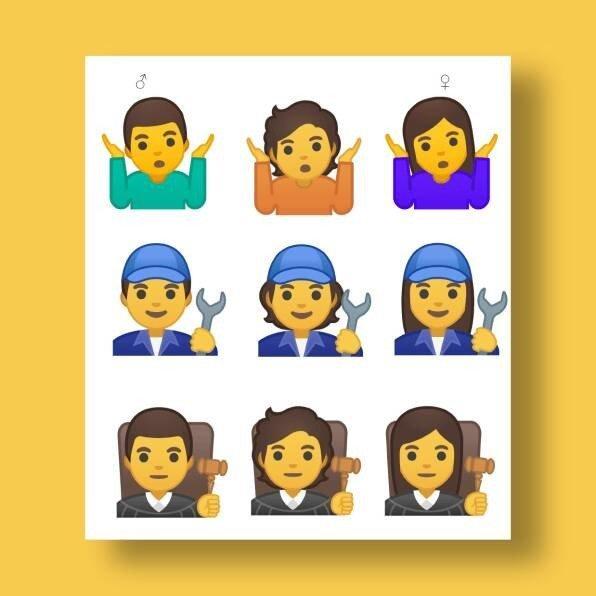 Google добавит 53 «бесполых» смайлика в Android Q