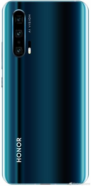 Третий вариант Honor 20 Pro с четырьмя камерами на рендере