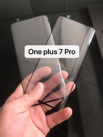 OnePlus 7 Pro: защитное стекло показало рамки и степень скругления