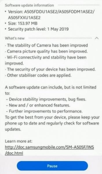 Samsung Galaxy A50 получил очередное обновление системы: улучшили камеру и работу Wi-Fi