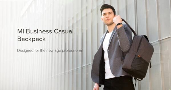 Xiaomi представила рюкзак Mi Business Casual Backpack с защитой от воды IPX4 и ценником в $15
