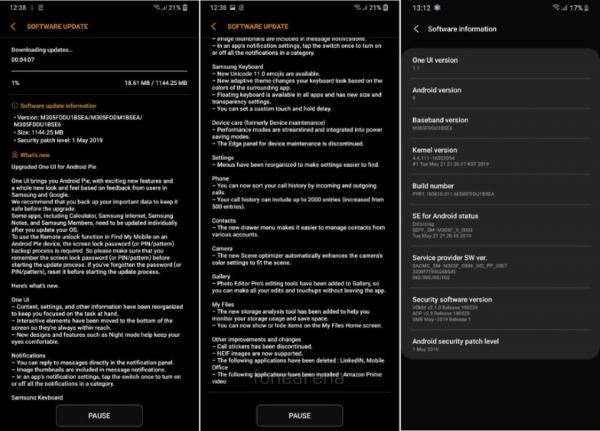 Android Pie для Samsung Galaxy M30: что нового и когда ждать прошивку