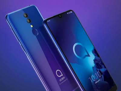 Alcatel 3 (2019) с большим экраном и NFC представлен в России