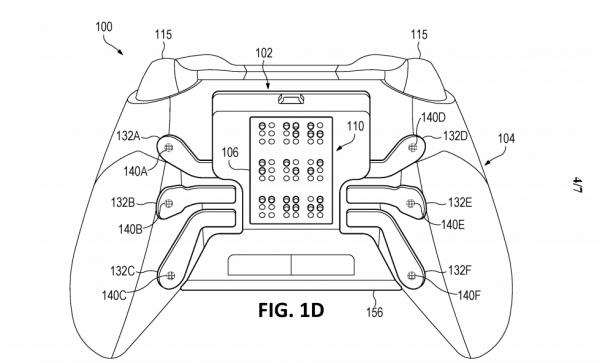 Microsoft запатентовала геймпад для слепых стактильным дисплеем