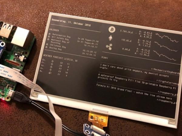 Magic Mirror E Ink – умный дисплей, который можно собрать за $100