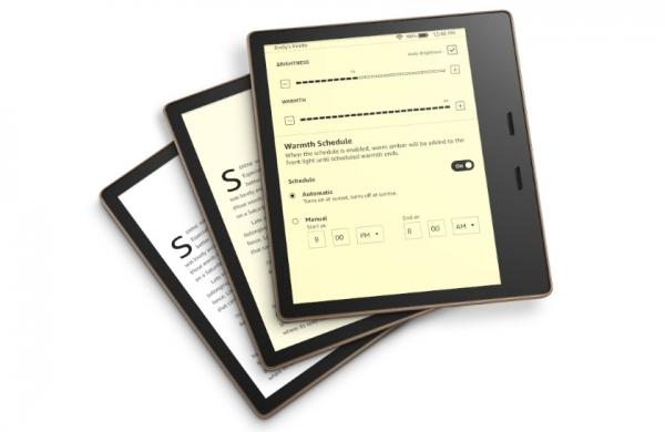 Amazon представил обновлённую электронную книгу Kindle Oasis с регулируемым цветовым оттенком дисплея