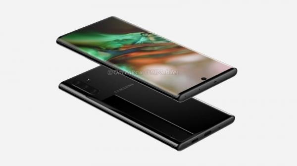 Samsung Galaxy Note 10 появился на рендерах с тройной камерой, отверстием в экране и без разъёма для наушников
