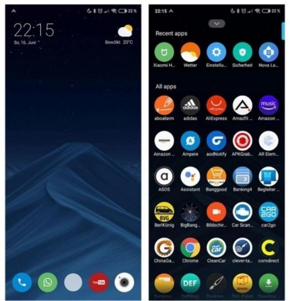 Смартфоны Xiaomi получают панель приложений