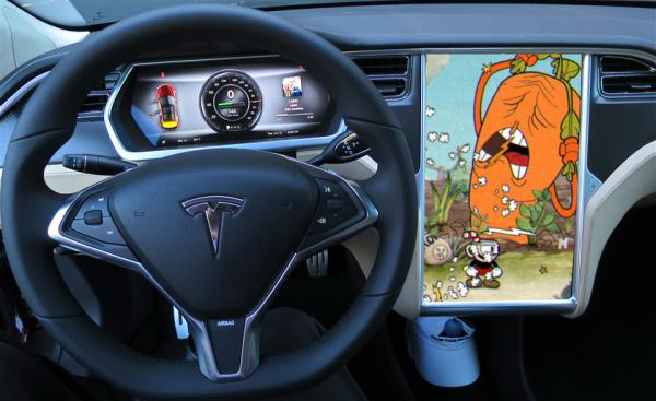 Илон Маск анонсировал релиз лучшей инди-игры Cuphead для автомобилей Tesla