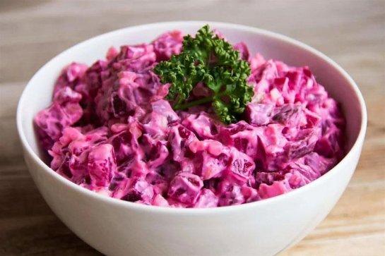 Салат со свеклой вареной