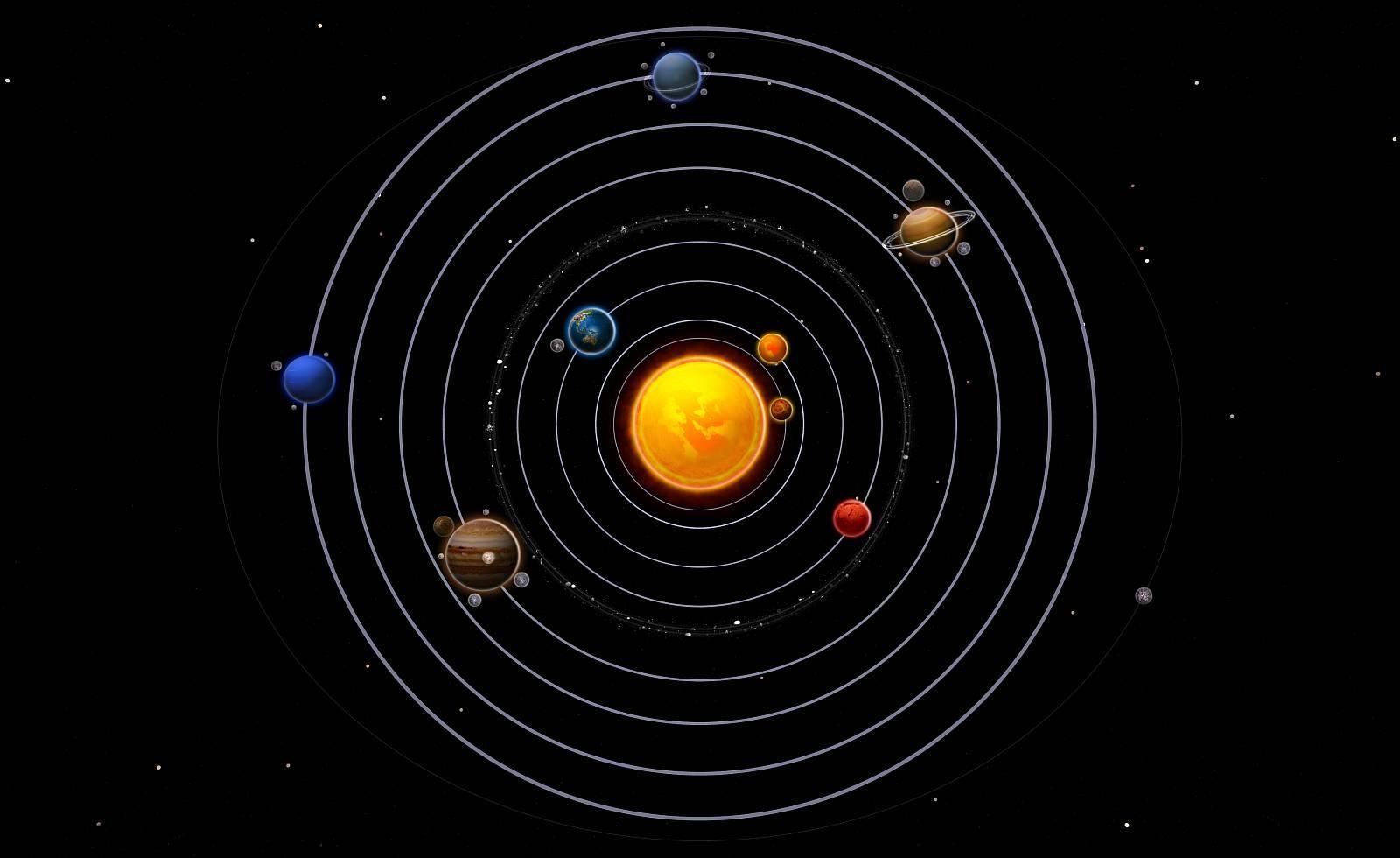 Модель солнечной системы из пластилина на картоне